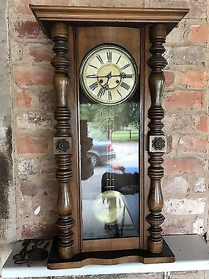 Antique Vintage Victorian Vienna Wall Clock