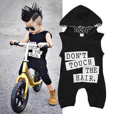Newborn Toddler Baby Kids Boys Outfit Clothes Cotton Romper Jumpsuit Bodysuit US