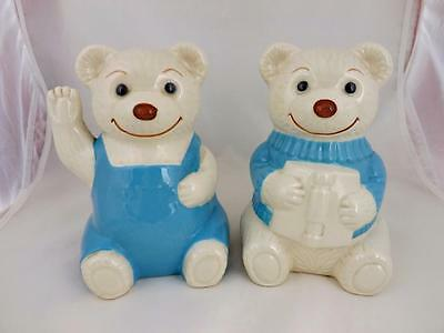 Vintage/Collectible Wade Teddy Bear Bookends-Promotional-Boots Chemist-1988/89