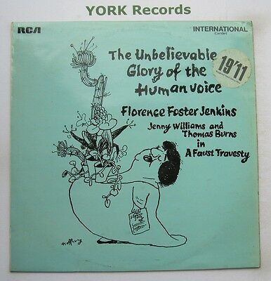FLORENCE FOSTER JENKINS - Unbelievable Glory Of The Human Voice - Ex LP Record