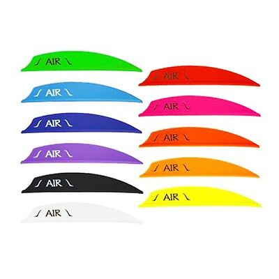 "BOHNING AIR 2"" Archery Plastic Vanes - Variety of Colours (Qty 12)"