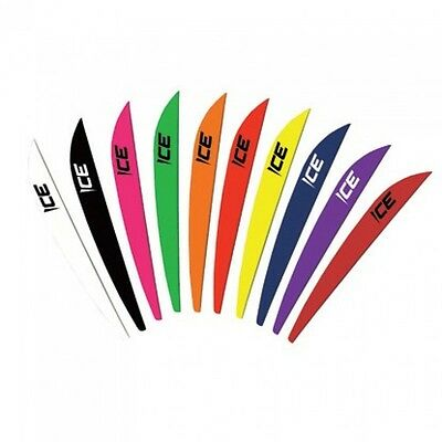 "Bohning ICE 3"" Archery Plastic Arrow Vanes - Variety Of Colours (QTY 12)"