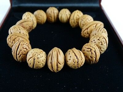 Fine Chinese Organic Bracelet made from Small nut Wallnut shell China