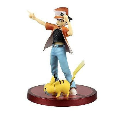 Pokemon Monster Red With Pikachu Ash Ketchum PVC Figure No Box