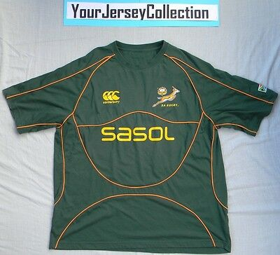 South Africa Rugby Union International Shirt 2007 Canterbury The Springboks Men