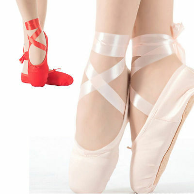 Adult Ballet Pointe Dance Toe Shoes Professional Satin Ladies Girls Shoes