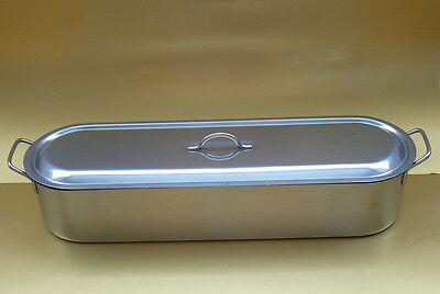 "Extra Large 66cm 26"" Stainless Steel Salmon Fish Kettle Poacher Steam Pan"