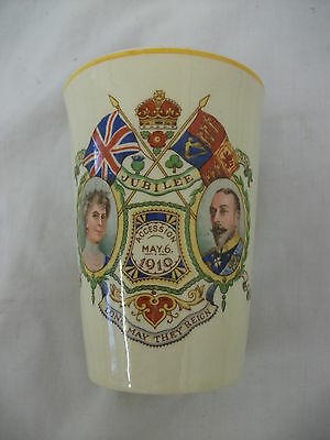 Woods Ivory Ware - George V & Queen Mary - 1935 Silver Jubilee Mug, 10 Cm Tall