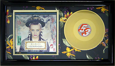 Culture Club Karma Chameleon Framed Gold  Lp Original Pop Art Music Memorabilia