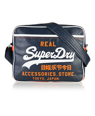 New Mens Superdry Mash Up Alumni Bag Navy