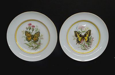 """Lovely Pair of Royal Bayreuth Germany """"Butterfly"""" Plates, Bright & Perfect"""
