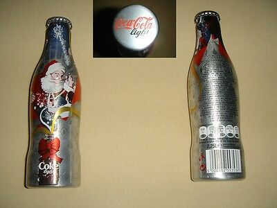 Coca Cola light X-mas/Christmas 2007 ALU Flasche/bottle/bouteille/bottiglia RARE