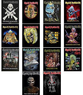 Iron Maiden Back Patch Book of Souls Trooper Killers Eddie band logo Official