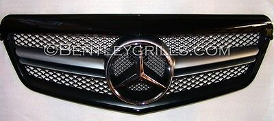 Mercedes W212 S212 E 2009-2013 Obsidian Black AMG LOOK Complete Front Grille