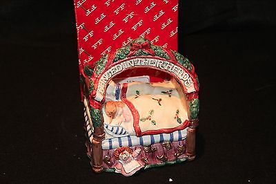 Fitz & Floyd 1993 Night Before Christmas Bed Candy Box