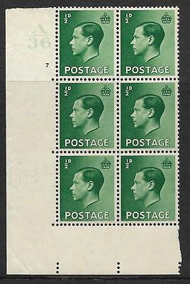 ½d Edward VIII A36 7 No Dot UNMOUNTED MINT
