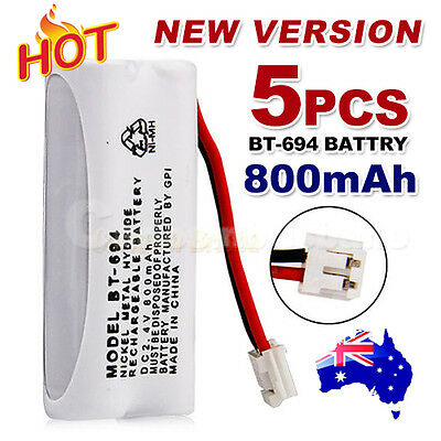 5x 800mAh 2.4V Cordless Phone for Uniden Battery BT-694 BT-694S Ni-MH