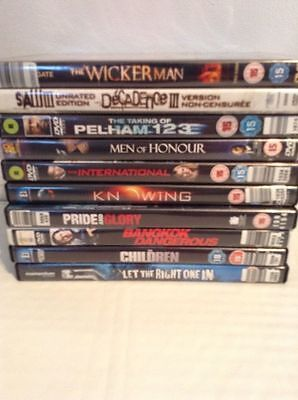 DVD Movie Lot Horror, Thriller, Action, Gore, Suspense Lot Of 10 Region 2 DVDS