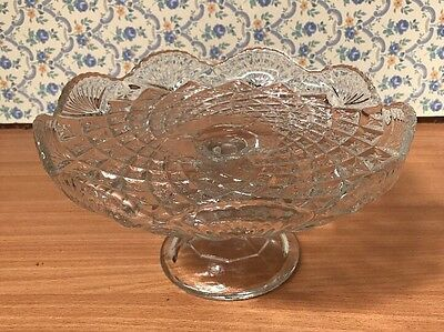 Vintage  glass pedestal cake stand...Wedding, party, tea.