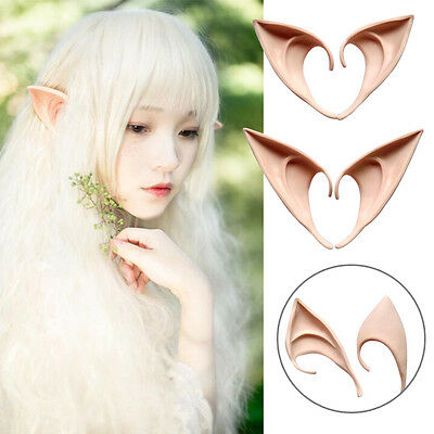 1Pair Costume Ear Elf Tips Cosplay Holiday Accessories Tool Gadget Party Supply