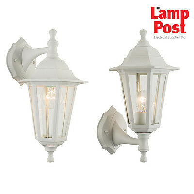 Endon 60965 Bayswater Outdoor Wall Light Lantern IP44 60W White & Glass
