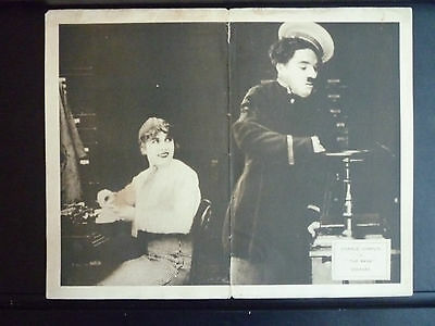 1915 The Bank - Lobby Card - Charlie Chaplin Silent - 1917-1922 Re-Release