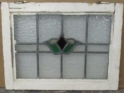 """OLD ENGLISH LEADED STAINED GLASS WINDOW Marvelous Abstract Floral 21"""" x 16"""""""