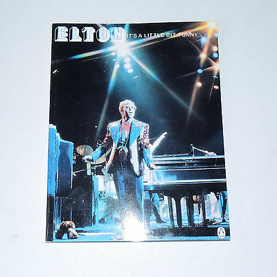 ELTON JOHN IT'S A LITTLE BIT FUNNY World Concert Tour1977 Penguin Music Book