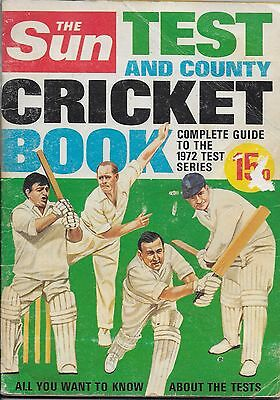 The Sun Test And County Cricket Book 1972 Test Series - Signed By 14 Players