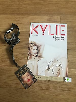 Kylie Minogue Meet & Greet Lanyard And Signed Photo