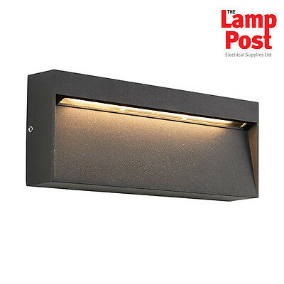 Saxby 69937 Tuscana Black Aluminium Outdoor IP44 6W LED Wall Mounted Light