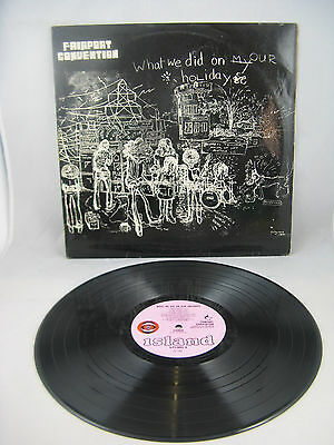 """FAIRPORT CONVENTION - """"WHAT WE DID ON OUR HOLIDAYS"""" - 1st PRESS ORANGE/BLACK -EX"""