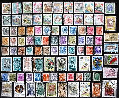 Italy - Good Selection of Over 90 Used Stamps