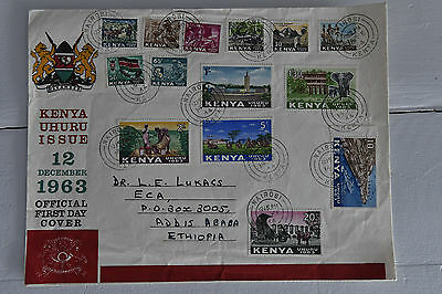 KENYA UHURU ISSUE 12 December 1963 Official First Day Cover