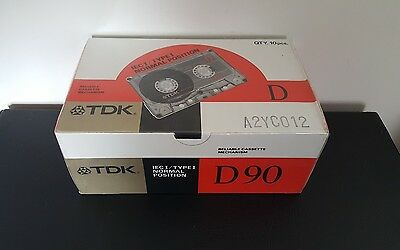 TDK D90 (SEALED BOX of 10) : 1988 : MADE IN JAPAN