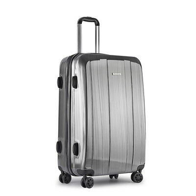 *Hard Shell Travel Luggage with TSA Lock Grey **FREE DELIVERY**