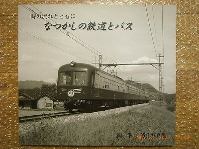 Japanese Railroads Rolling Stocks And Buses 50-60S Photo Collection Junji Oka