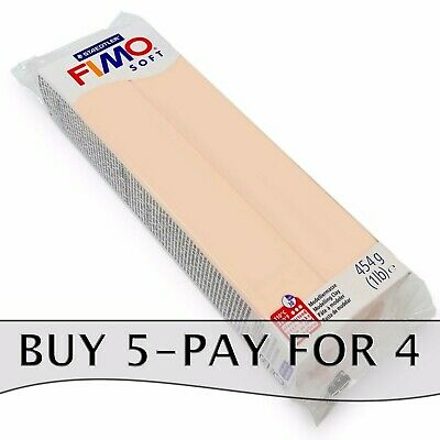 FIMO Soft 350g Polymer Modelling Clay - Oven Bake Clay - Single Flesh