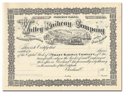 Valley Railway Company Stock Certificate