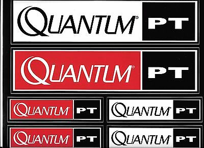 Quantum Fishing Gear Decal Sticker Sheet of 6 Size New Vinyl