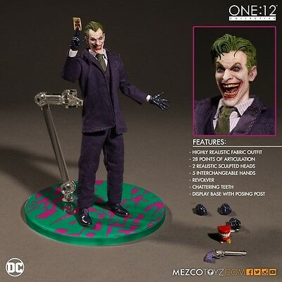 Mezco Toyz One:12 Collective DC Comics THE JOKER Box Not Perfect (Indented)