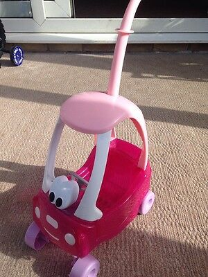 Zapf My first Little Baby Born doll COZY COUPE Pink Play Toy push along Car