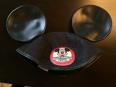Vintage Mickey Mouse Club Ears Children's Hat Felt