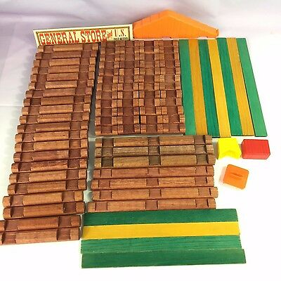 Lincoln Logs Pony Express General Store 90+ piece incomplete playset