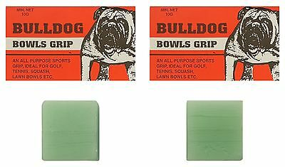 BOWLS Grip Aid Bull Dog Bowls Grip All Purpose Sports Grip Twin Pack 20g Total