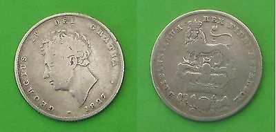 Sterling silver shilling 1827