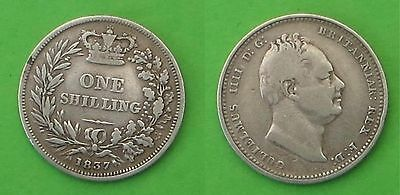Sterling silver shilling 1837