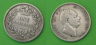 Sterling silver shilling 1836