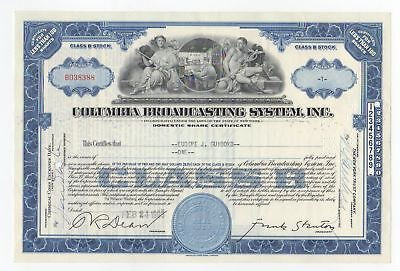 1955 Columbia Broadcasting System, Inc. Stock Certificate