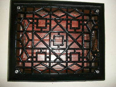 Antique 8X10 Inch Cast Iron Floor/wall Register Heating Grate Louvers Excellent